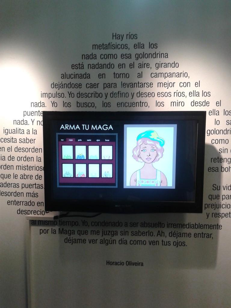 La Maga en Museo del libro y de la lengua, Buenos Aires.