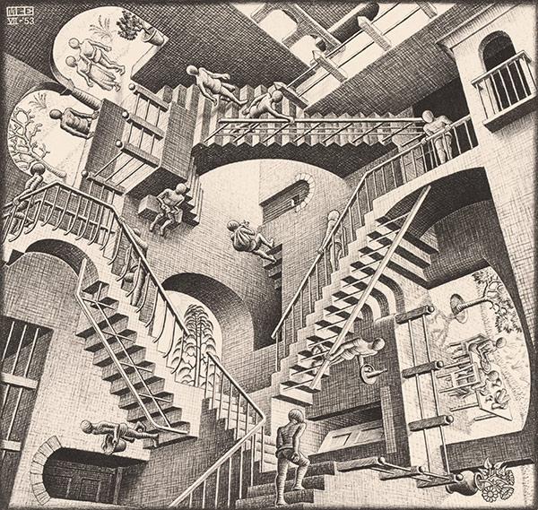 Relatividad 1953 M C Escher