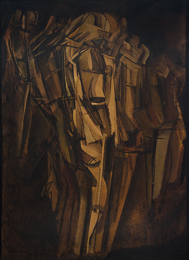 Sad Young Man in a Train (1911-12) - Marcel Duchamp
